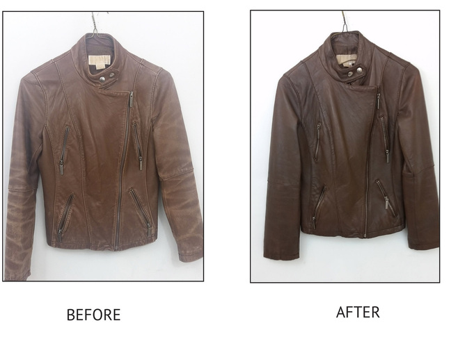 Before & After Leather Garments - Arrow Fabricare